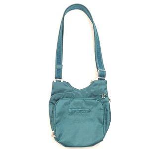 TRAVELON Green Anti-Theft Messenger Cross-Body Bag